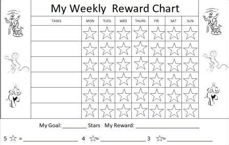 printable star behavior chart printable reward charts for kids and positive behavior
