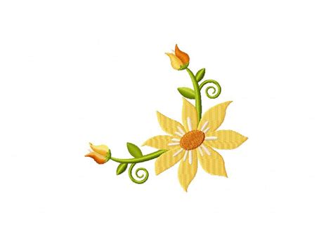 border design flower yellow 35 borders and corners floral designs entire package only