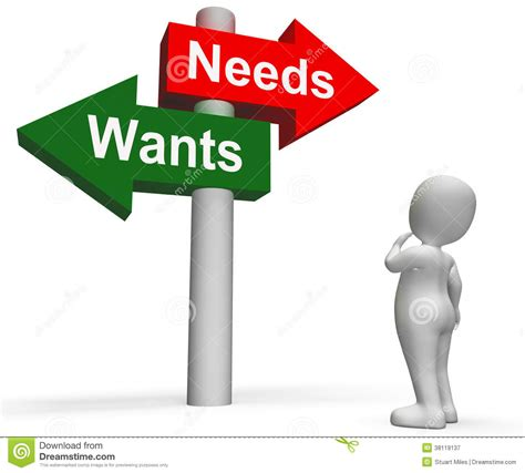 wants and needs clipart