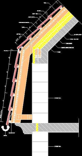 mansard roof detail  autocad cad   kb