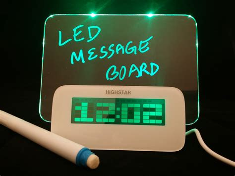 Digital Led Message Fan led message board and alarm clock