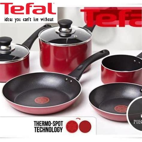 Teflon Tefal tefal pleasure 9 cookware set non stick