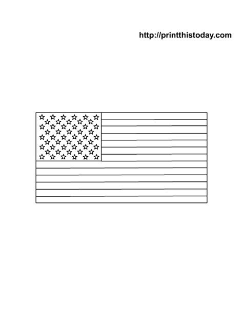template of usa flag free american flag template coloring pages