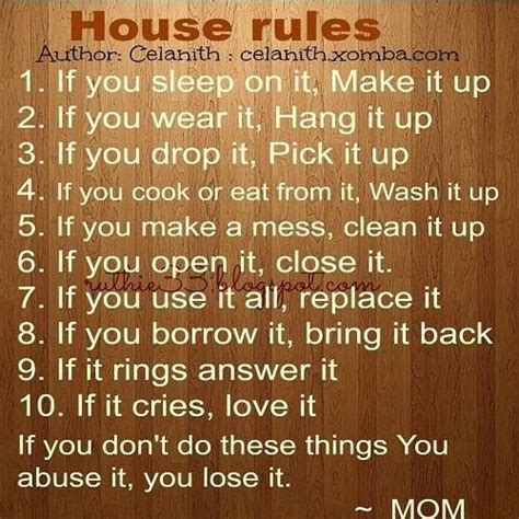 house rules mom s house rules motherhood pinterest