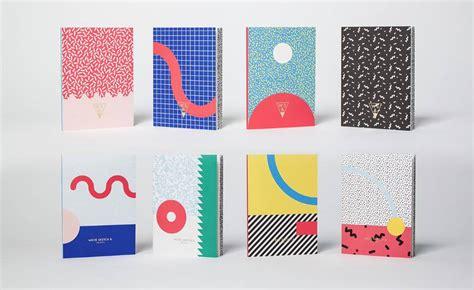 memphis pattern notebook memphis notebooks collection fubiz media