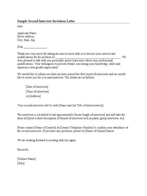 sample interview invitation letter