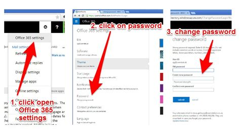 Office 365 Mail Password Reset Change Office 365 Email Password Comstat Web And Media