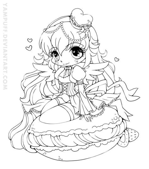 ciguea colouring pages page 2 yampuff food chibi girls coloring pages crafts