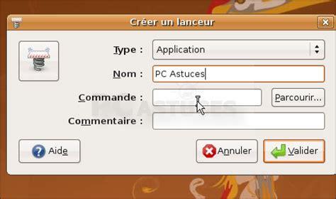 ubuntu raccourci bureau pc astuces crer un raccourci vers une page web linux