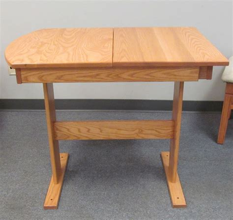 hide a leaf dinette table ash hardwood stained light oak