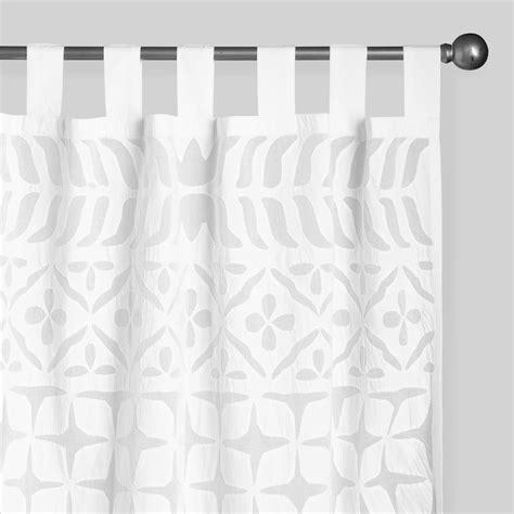 sheer white cotton curtains white petal cutwork sheer cotton curtains set of 2 world
