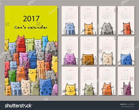 funny bees calendar 2017 design stock vector image 81720022 funny cats design calendar 2017 stock vector 514204780