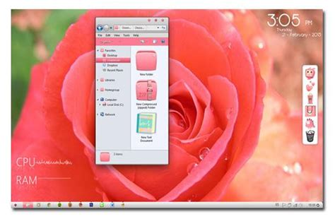 rose themes for windows 7 free download 100 most awesome custom windows 7 themes 2016