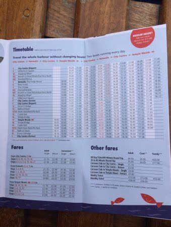 bristol ferry boats timetable time table and fares picture of bristol ferry boats