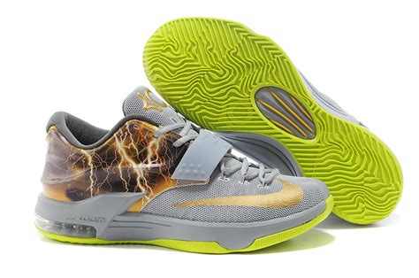 kd new year shoes 2015 kd 7 gray thunderbolt nike 2015 new mens shoes 2014