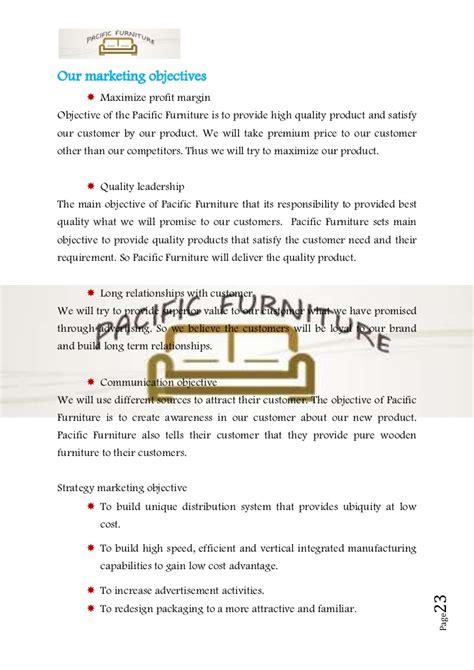 business plan sample  furniture