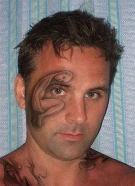 tattoo fail selfie 30 stupid face tattoos damn cool pictures