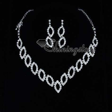 formal wedding bridesmaid prom rhinestone necklaces and