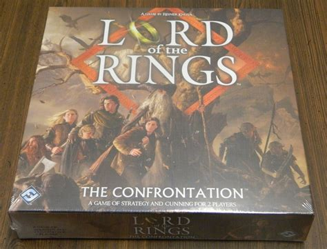 Lord Of The Rings The Confrontation 2013 Edition Original future board card and release schedule geeky hobbies