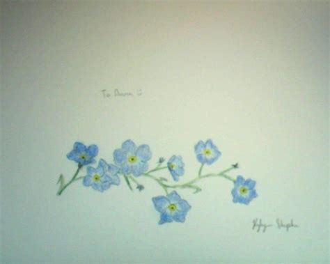 forget me not tattoo designs forget me not tattoos forget me nots for by