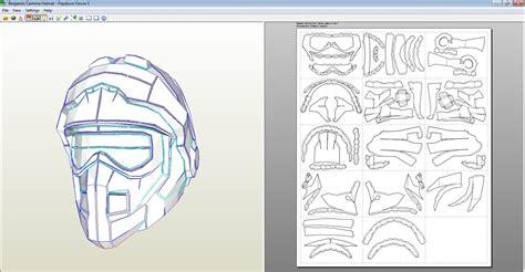 j man props carmine helmet update 1 pepakura build
