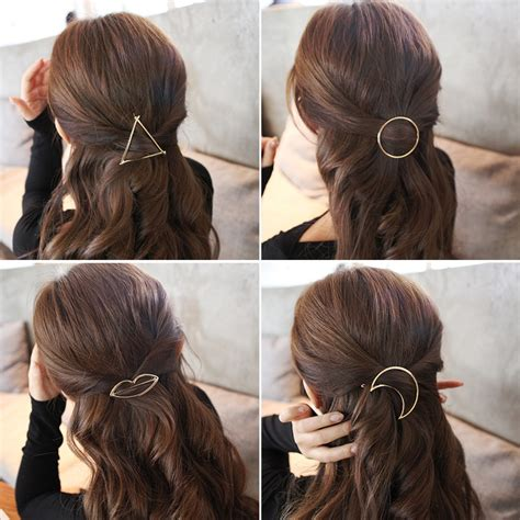 metal ponytail holder   shape hairclips women