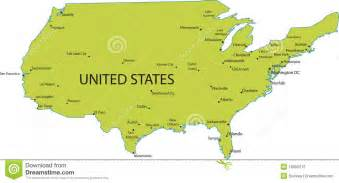 Map Of United States With Major Cities by Map Of Usa With Major Cities Stock Photography Image