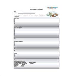 potluck template 10 sign up sheet templates free sle exle format