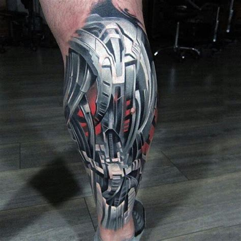 biomechanical tattoo by cris gherman robo armor biomechanical tattoo on leg biomechanical