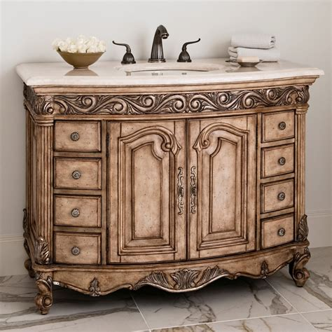 vintage bathroom vanity cabinet ambella home antique 48 antique single sink bathroom