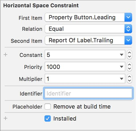 autolayout remove height constraint 解决ios how to use constraint identifiers in autolayout