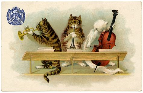 vintage new year songs vintage graphic musical cats the graphics