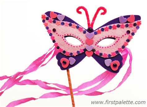 butterfly mask template masquerade mask craft crafts firstpalette