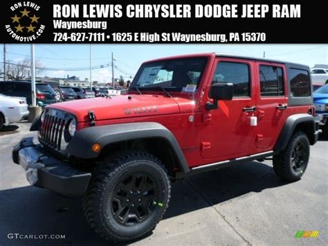 jeep unlimited red 2015 jeep wrangler unlimited willys wheeler 4x4 in hydro