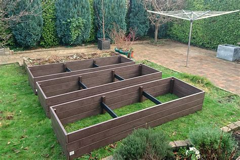 plastic raised garden beds maintenance free raised beds irish recycled products