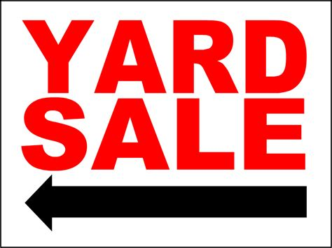 Yard Sale Sign Template y101 png