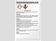 Hydrochloric Acid Signs | Hydrochloric Acid Warning Signs Nitric Acid Msds