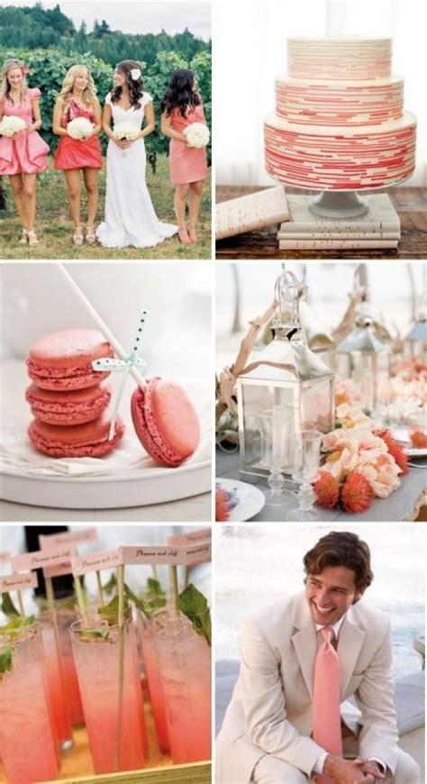 coral theme coral wedding ideas