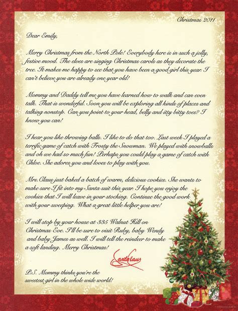 personalized letters from santa personalized letters from santa levelings