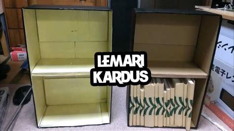 rak buku minimalis dari bahan kardus prelo tips