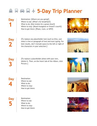 trip itinerary template trip itinerary template free edit fill create