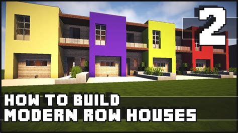 how to design a modern minecraft house how to build modern row houses part