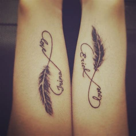 my couple tattoo love it infinity tattoo i love