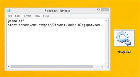 membuat hyperlink di notepad cara membuat shortcut google dengan notepad