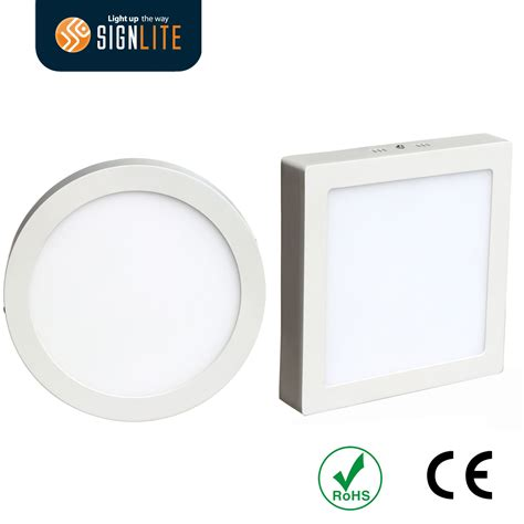 Panel Led 2 Warna 6 china surface mounting installation square or 6w 12w 18w 24w led downlight led panel light