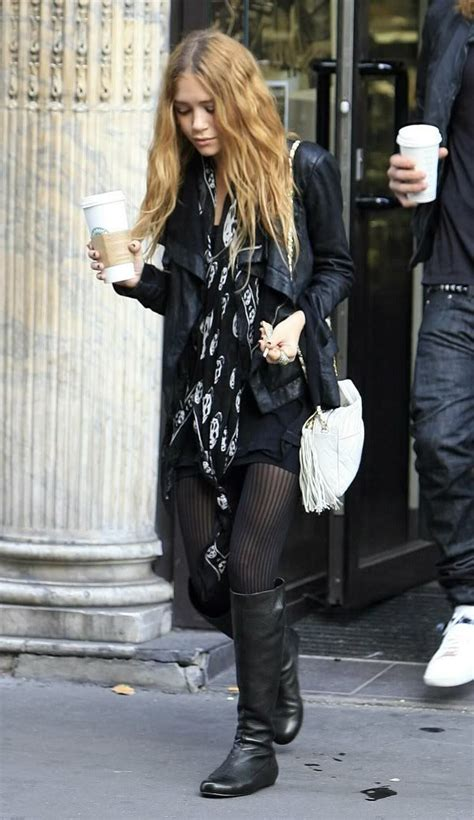 Kate Olsens The Runway Boots by Kate Mcqueen Skull Scarf Style