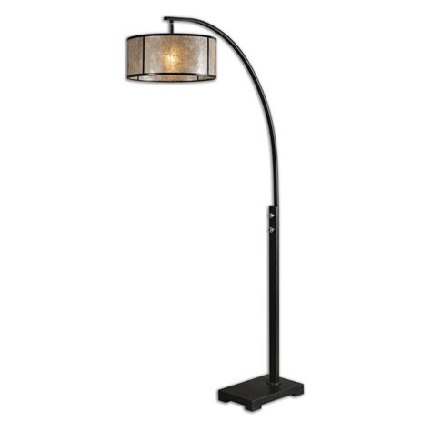 cairano curved metal one light floor l with drum shade