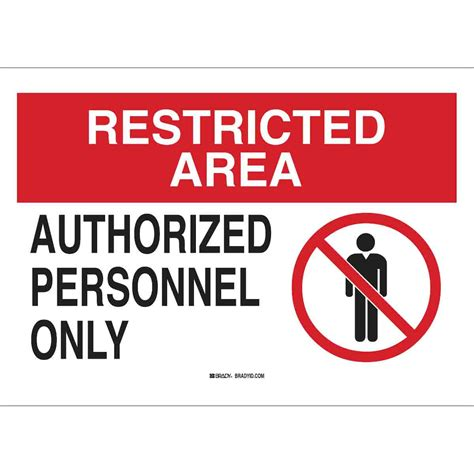 restricted areas brady part 95466 restricted area authorized personnel only sign bradycanada ca