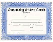 printable outstanding student awards certificates