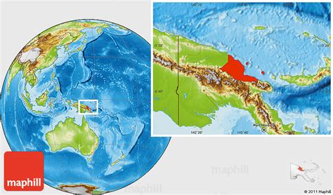 physical map of papua new guinea physical location map of madang